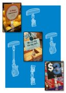 Roto Clips - Rotating Clip-on Sign Holders with Swivel Action
