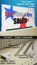 Gondola Sign Topper Boot System | Magnetic and Adhesive Retail Display Products