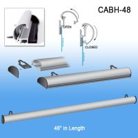 CABH-48, Metallic aluminum banner hanger holder, by Clip Strip Corp.