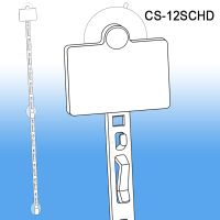 Clip Strip® Merchandising Strip, w/ Suction Cups/Header, CS-12SCHD