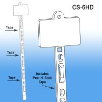Clip Strip® Merchandising Strip, w/ Header and Tape, CS-6HD