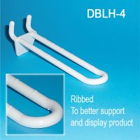 "DBLH-4, 4"" long double loop butterfly hole display hooks"