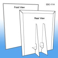 "11"" W x 14"" H Easel Back Counter Sign Holder, EBC-1114"