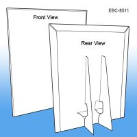 "8 ½"" W x 11"" H Easel Back Counter Sign Holder, EBC-8511"