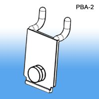 Acrylic Wall-mount Literature Holder Adapter for pegboard and slatwall, PBA-2