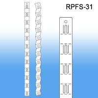 Folding Product Display Strip w/ Plastic Hooks | Clip Strip, RPFS-31