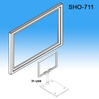 "Sign Frame System Components - Display Signs, 11"" x 7"" , styrene sign holder, SHO-711"