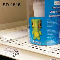 "SD-1516, retail shelf divider, 1"" by 15.5625"", with adhesive"