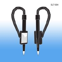Coiled Tethered Pen with Peel and Stick Adhesive Holder, Pen Keeper, SLT-004