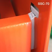corrugated display shelf support clip, SSC-70, 2-3/8""