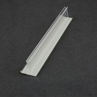"Clear 6"" Sign holder, PVC, Card Holder, Countertop, 773-6"