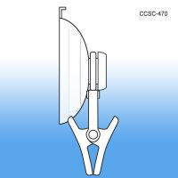 Clever Clip Suction Cup - Plastic Sign & Label Holders, CCSC-470