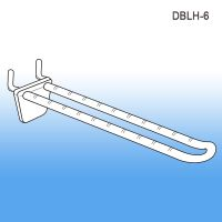 "6"" Double-Loop Plastic Pegboard-Slatwall Hook, DBLH-6"