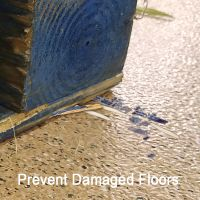 Prevent Damaged Floors, corrugated retail display, pallet protector, PFP-3