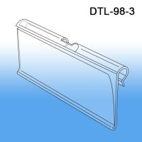 "Data-Tag™ 3"" Label Holder for T-Scan Style Metal Display Hooks, DTL-98-3"