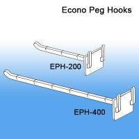 Plastic Peg Hooks for Merchandise Display Strips | Point of Sale Products, EPH-Series