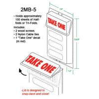 Plastic Literature & Brochure Holders for Outdoor Use - Tri & Half Folds, 2MB-5