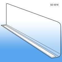 "3"" x 17-9/16"" Econo-Line Adhesive Mount Shelf Divider, SD-3018"