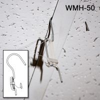 Wire Metal Ceiling Sign Hanger with 5 ft. mono-filament Barbed Cord WMH-50