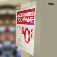 """plastic clear wall mount sign holder, 8.5"""" x 11"""",  506"""