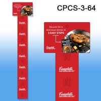 Custom Printed Merchandising Strip, 12 Stations, Easy to Load, CPCS-3-64