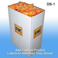 Advertise Your Brand on a Small Corrugated Dump Bin Display with Custom Labels, Item# DB-1