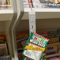 Clip Strip flat affordable and easy to hang anywhere, version with tape with 12 hooks,  ES-12