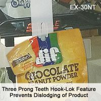 Clip Strip® brand merchandising strip, with Hook-Lok Feature,  EX-30NT, 12 hooks