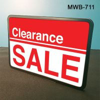 "Strong 11"" Wide x 7"" High Metal Sign Frame with Wedge Base, MWB-711"