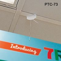 Ceiling Grid Twist On Clip Sign Holder, 6' cord, PTC-73