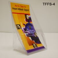 Inexpensive Plastic Literature Holders - Brochure Display, TFFS-4