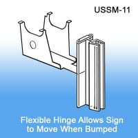Under Shelf Spring-Mount Grip-Tite™ Sign Holder, with Hinge, USSM-11