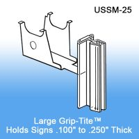 Under Shelf Spring-Mount Grip-Tite™ Sign Holder, with Hinge, USSM-25