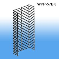 WPP-57BK, Wire Power Panel Wing Black Metal | Sidekick | Product Merchandising