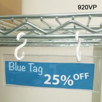 vinyl pouch for wire rack sign holder with snap rings, 920VP