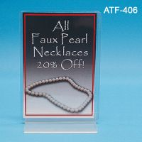 "4"" W x 6"" H ""T"" Style Sign Holder, ATF-406"