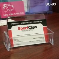 clear desk business card holder, BC-93