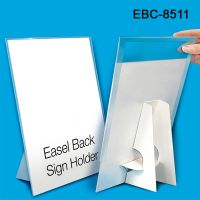 "Reusable 8.5"" W x 11"" H Easel Back Counter Sign Holder, EBC-8511"
