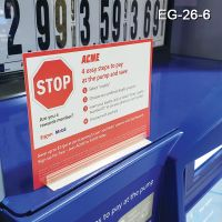 Heavy Duty Wide Base Sign Holder, EG-26-6