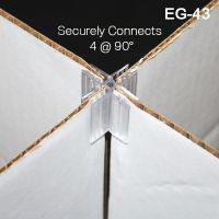 4-way corrugated connector, EG-42