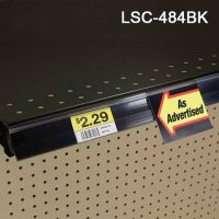 Black gondola price channel label holder, LSC-484BK