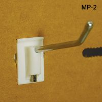 "2"" No Sag™ Easy Remove Back Corrugated Power Panel Metal Hook, MP-2"