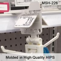 MSH-226, max peg hook strip off shelf hanger mount