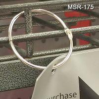 Metal Hinged Snap Rings, Nickel Plated, Easy Open, Snaps Closed, MSR-175