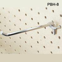 Eight Inch Long Metal Peg Board Hooks, PBH-M-8