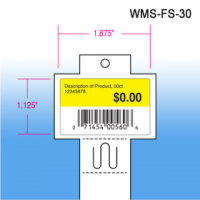 "Clip Strip ® Brand Econo Strip™ Folding Merchandiser, w/ Header, 12 Hooks, 25"" Long, WMS-FS-30"