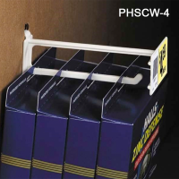 """4"""" Display Hook with Built-On Scan Plate - Plastic, PHSCW-4"""