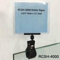 Clips Strip Corp. Roto Clip with Print Protector/Sign Holder, RCSH-4000BK