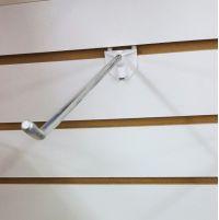 """EBH-6, 6"""" long slatwall hook metal, easy remove"""