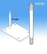 Sign Holder Stem | Display Frame System Components, 4"